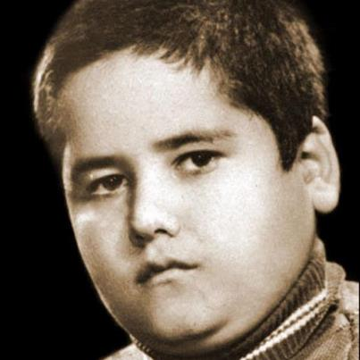 کودکی اکبر عبدی /عکس