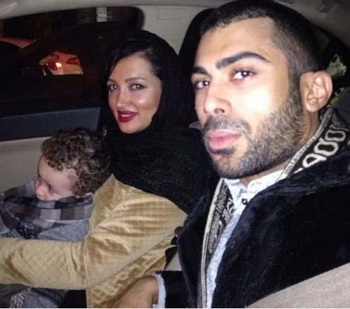 روناک یونسی در کنار همسر و پسرش /عکس