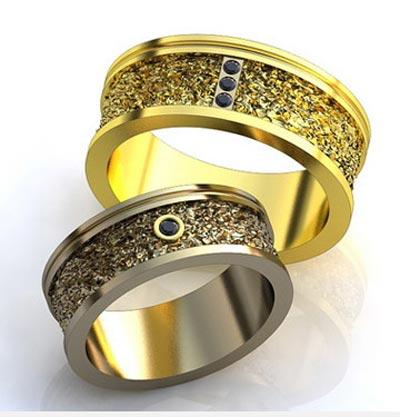 ست حلقه ازدواج به رنگ تیره