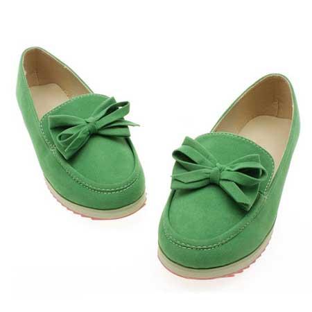 مدل جدید کفش اسپرت و مجلسی سبز رنگ