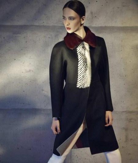 مدل پالتو های کلاسیک زنانه از برند Fendi