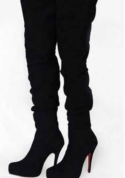 مدل واقعا جذاب از بوت ساق بلند مشکی