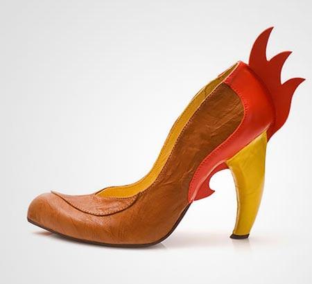 مدل عجیب و غریب از کفش پاشنه بلند دخترانه