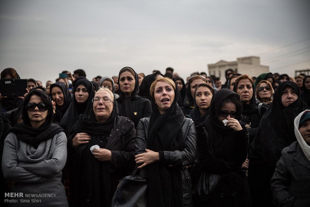 تصاویری از مجلس ختم مرتضی پاشایی