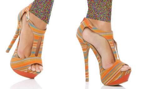 کفش های پاشنه بلند 2015 با رنگ شاد