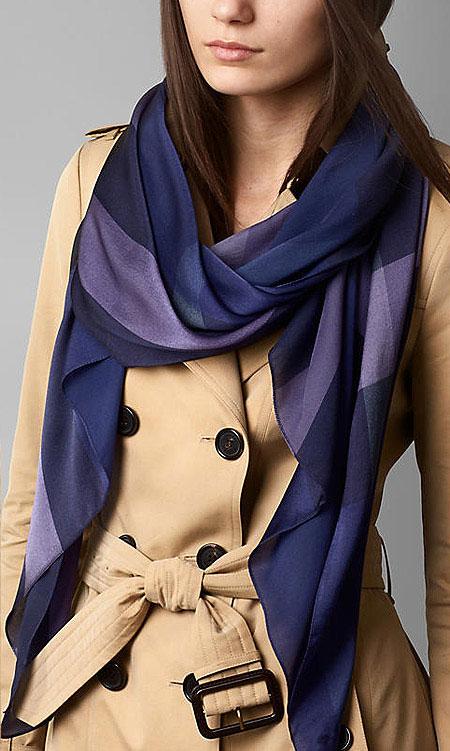 جذاب ترین مدل روسری و شال از برند Burberry