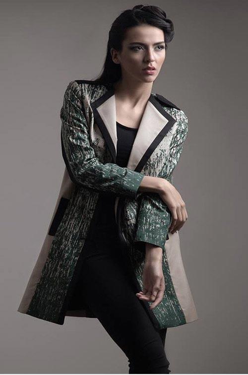 مدل دامن بلند مجلسی کرپ مدل مانتو