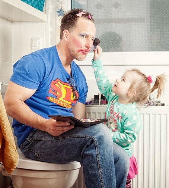 آقایون چگونه از فرزندان مراقبت میکنند؟! +تصاویر