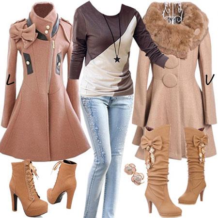 مدل جذاب از ست لباس زمستانی دخترانه