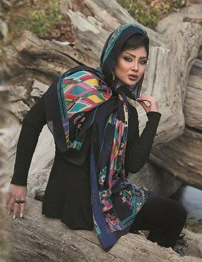زیباترین مدل روسری و شال ایرانی