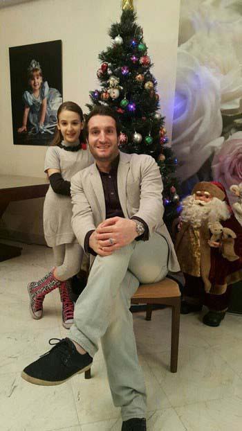 ادموند بزیک در کنار دخترش / عکس