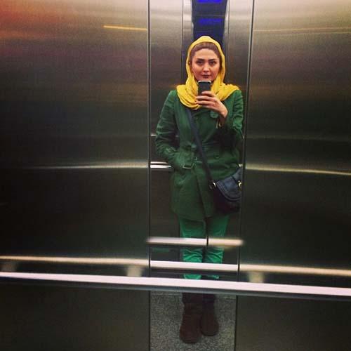عکس سلفی جدید مریم معصومی در آسانسور!