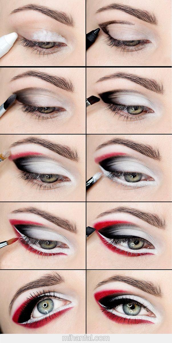 آموزش تصویری آرایش چشم عربی