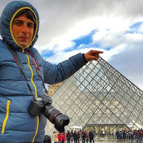 حمید گودرزی در فرانسه / عکس