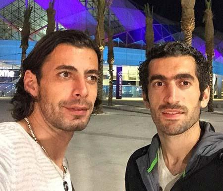 عکس سلفی مجتبی جباری و فریدون زندی در قطر