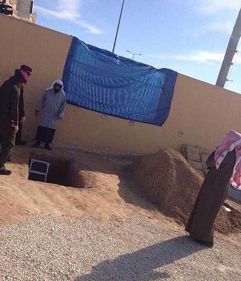 محل دفن ملک عبدالله + عکس