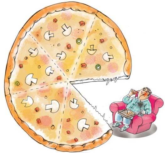 خطر پیتزا! / کاریکاتور