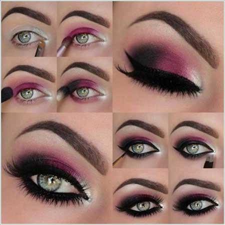 آرایش چشم همراه با آموزش تصویری