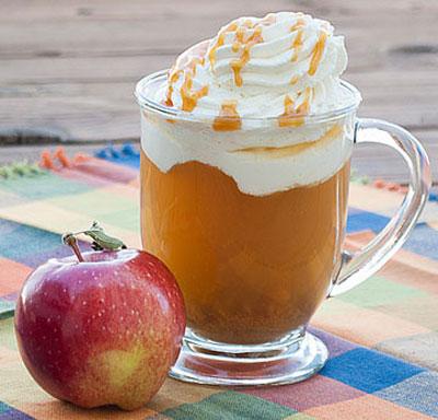 نوشیدنی سیب کاراملی خوشمزه
