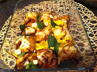بقچه بادمجان همراه با طرز پخت آن