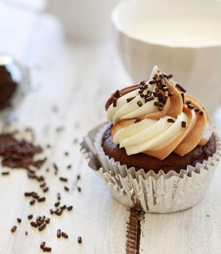 تزئین کاپ کیک های ساده و خوشمزه