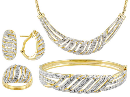 نیم ست های طلا با تم چشم گیر و زیبا