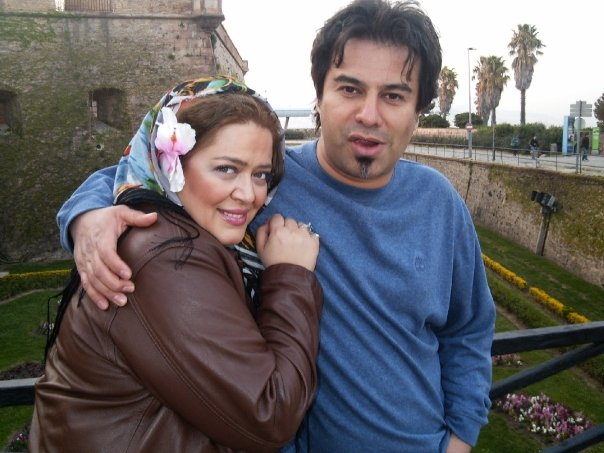 بهاره رهنما در کنار همسرش / عکس
