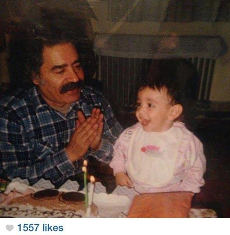 000691 عکس دیدنی از کودکی شقایق فراهانی در کنار پدرش