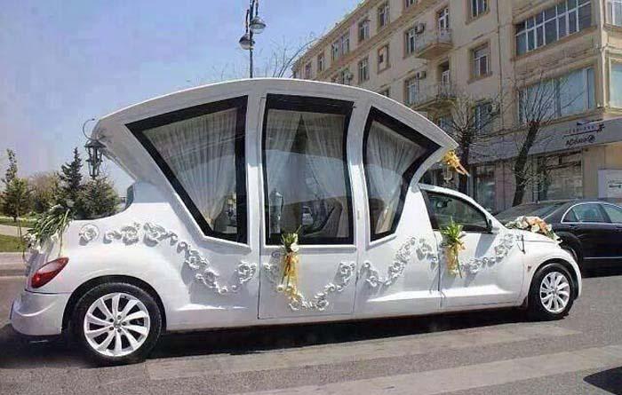 عجیب ترین ماشین عروس دنیا / عکس