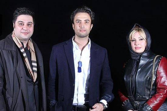 عکس یادگاری نیوشا ضیغمی و همسرش با بنیامین بهادری
