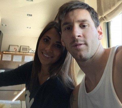 000760 عکس سلفی مسی و همسرش