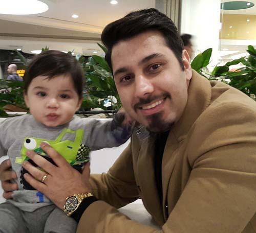 عکس جدید احسان خواجه امیری و پسرش ارشان