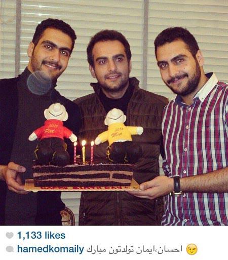 000794 حامد کمیلی و برادران دو قلو اش / عکس
