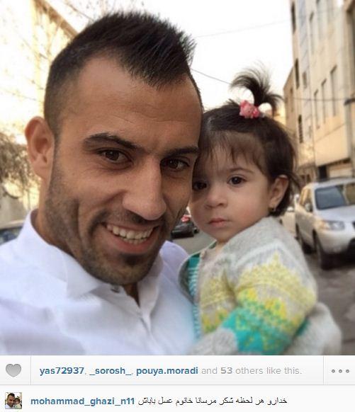 000804 عکس سلفی محمد قاضی و دخترش