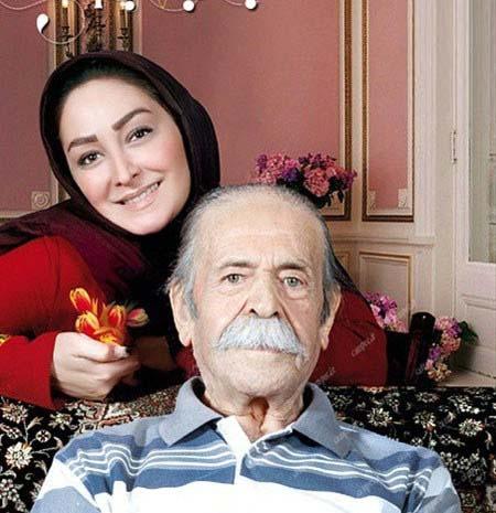 الهام حمیدی در کنار استاد محمدعلی کشاورز / عکس