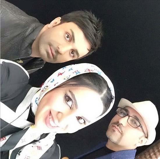لیلا بلوکات در کنار علی لهراسبی و مصطفی پاشایی / عکس