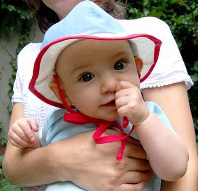 اموزش دوخت کلاه پارچه ای بچه گانه نوزاد