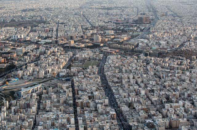 7315962 4 تصاویری از منازل تهرانی ها از نمای بالا