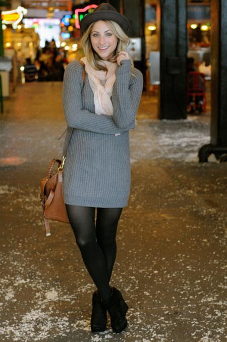 تونیک زمستانی زنانه با تم رنگی جدید