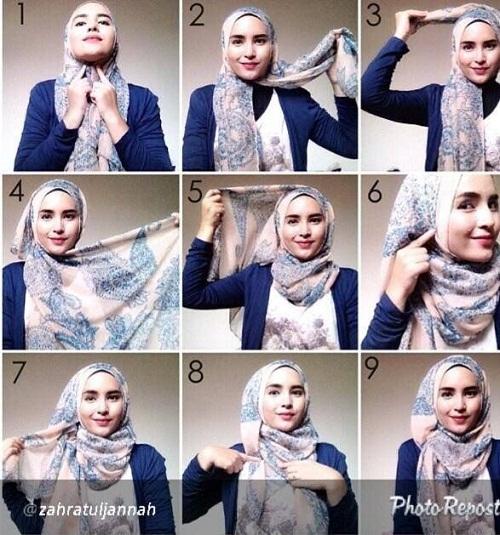 اموزش تصویری بستن شال و روسری