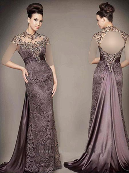 women dress gh0177 مدل لباس مجلسی گیپور زنانه