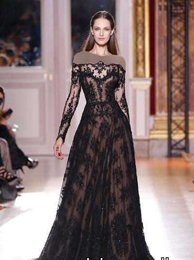 women dress gh0178 مدل لباس مجلسی گیپور زنانه