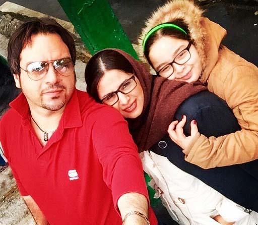 عکس سلفی شهرام قائدی در کنار همسر و دخترش