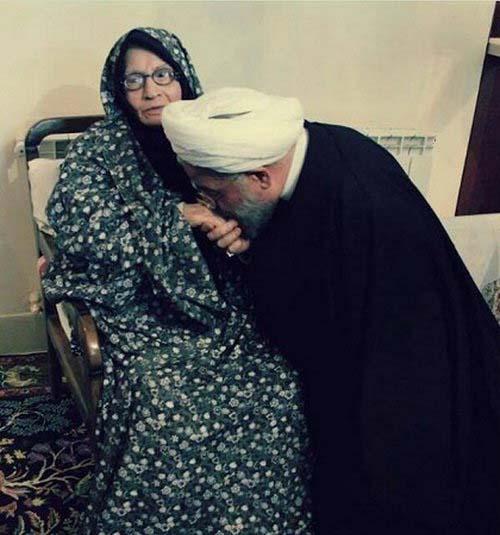 مادر رییس جمهور درگذشت + عکس