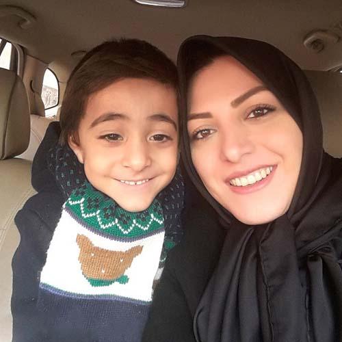 المیرا شریفی مقدم و پسرش / عکس