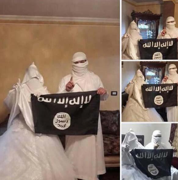 عروس و داماد داعشی / عکس