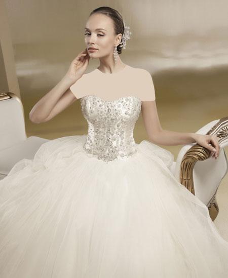 مدل زیبا از لباس عروس ۲۰۱۵ پفی
