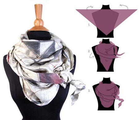 خلاقیت در بستن روسری