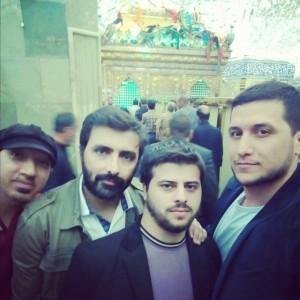امین زندگی و دوستانش در ضریح مطهرحضرت ابوالفضل+عکس