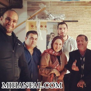 بهنوش بختیاری در کنار امین آقا فرزانه + عکس